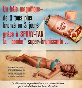 spray tanning old school style